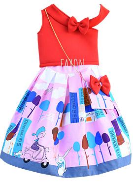 Fayon Pink Kids Skirt Set