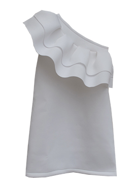 Fayon White Lycra Dress