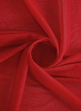 Fiery Red Net Fabric