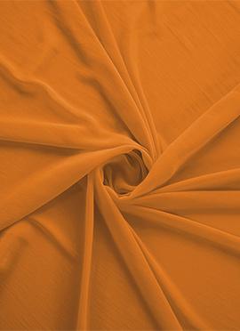 Flame Orange Georgette Fabric