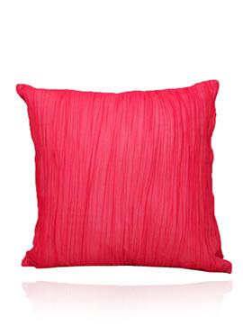 Fuchsia Pink Georgette N Cotton Cushion Cover