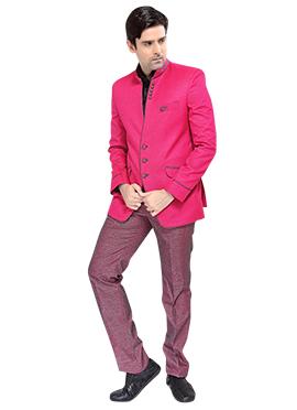 Fuchsia Pink Lapel Style Suit
