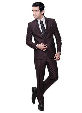Fudge Brown Rayon Lapel Suit