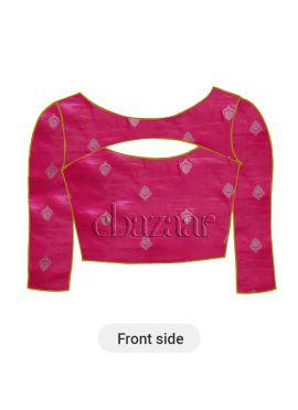 Fuschia Pink Paper Silk Blouse