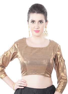 Georgette Golden Blouse