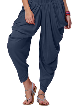 Go Colors Navy Blue Viscose Dhoti Pant