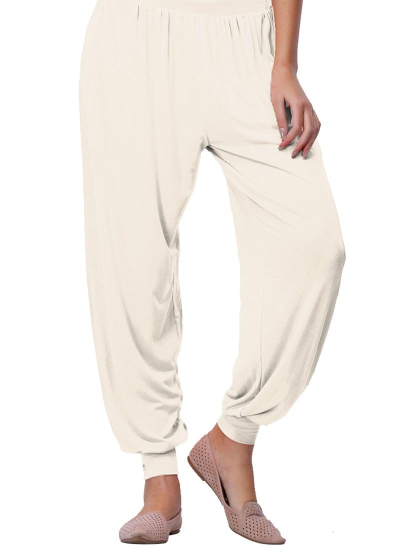 5e05338a805 Buy Go Colors Off White Viscose Harem Pant