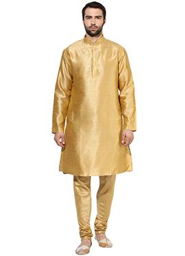 Gold Art Benarasi Silk Kurta Pyjama