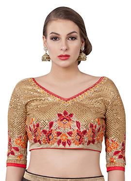 Gold Art Silk Blouse