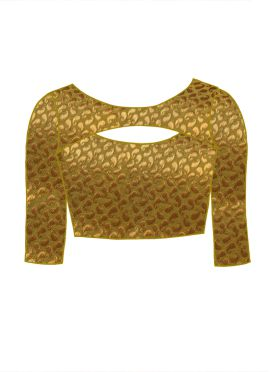 Gold Art Silk Brocade Blouse