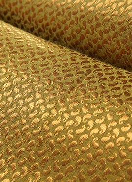 Gold Art Silk Brocade Fabric