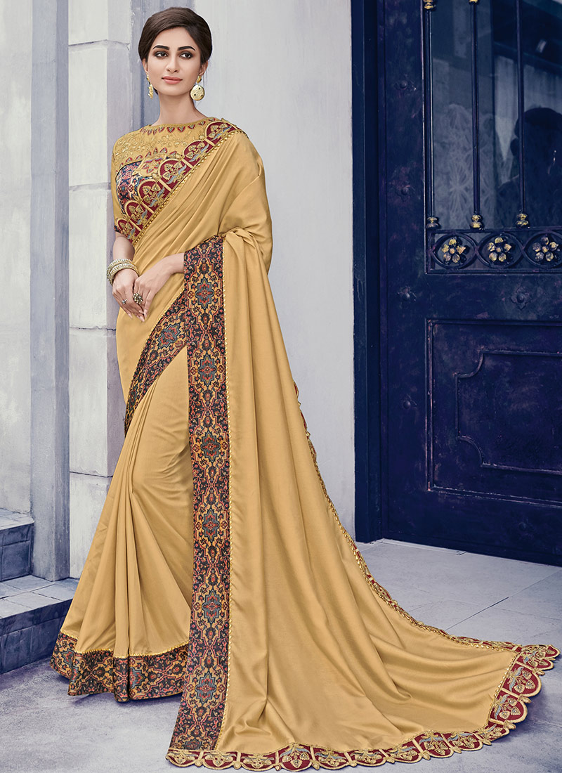 5142845c50 Buy Gold Border Embroidered Saree, Embroidered, sari Online ...