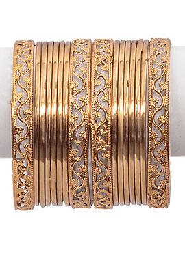 Gold Bangles Set