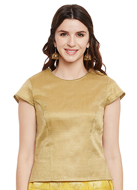 Studiorasa Gold Brocade Top
