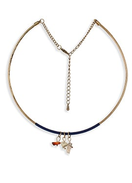 Gold Colored Alloy Necklace