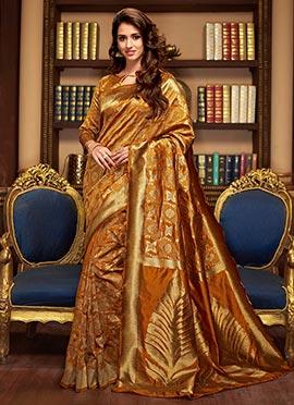 Gold Cotton Silk Saree