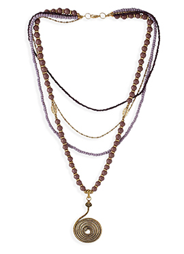Gold Fancy Dangling Necklace