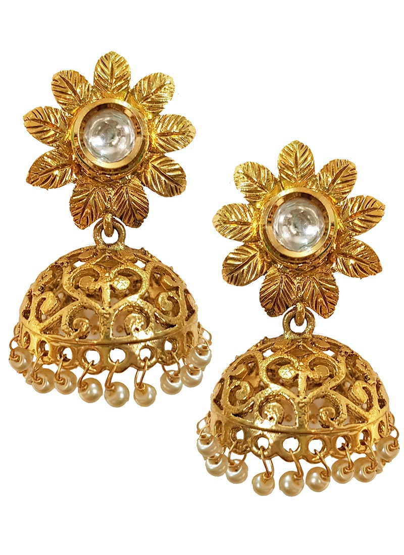 loading south image earrings sale itm s is indian gold plated bright bali jhumka