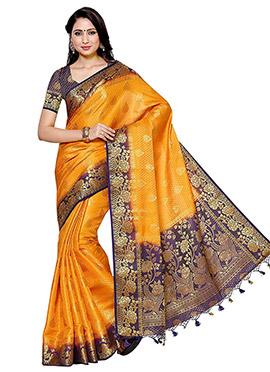 Gold Kancheepuram Art Silk Saree