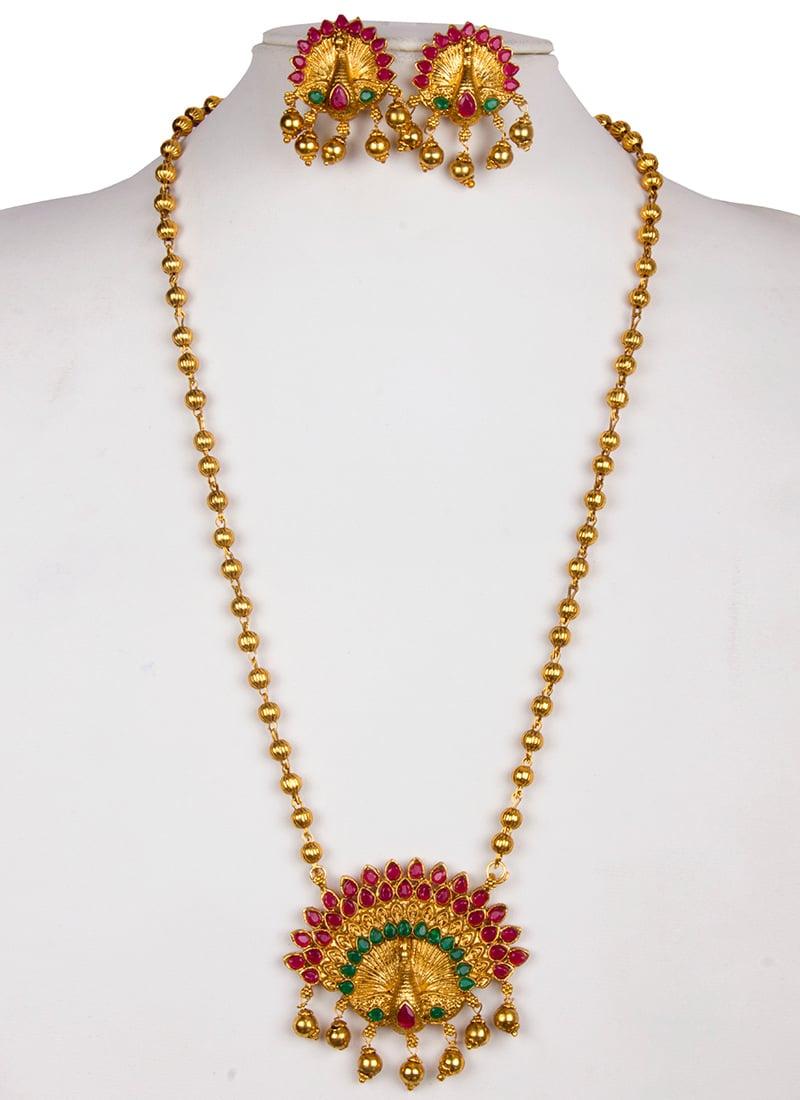 ca9feea394 Buy Gold Kundan Necklace Set, Kundan, necklace Online Shopping ...