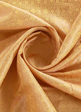 Gold N Beige Brocade Fabric