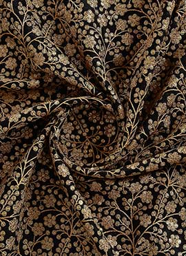 Black Embroidered fabric