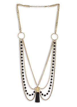 Gold N Black Necklace