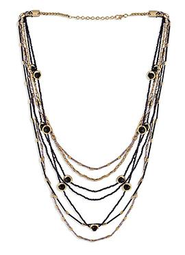 Gold N Black Necklace