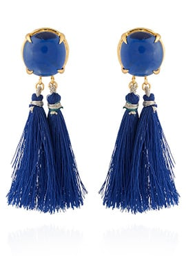Gold N Blue Danglers