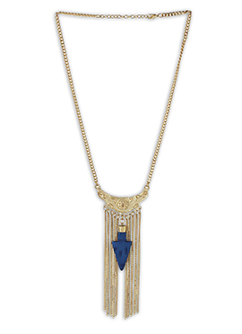 Gold N Blue Necklace