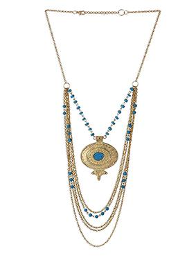 Gold N Blue Necklace