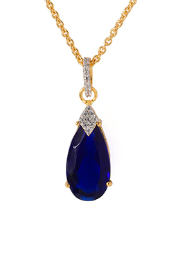 Gold N Blue Pendant