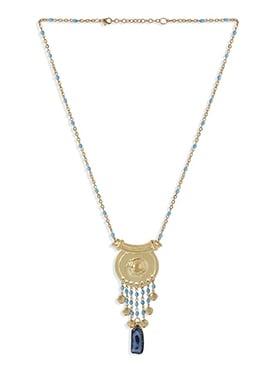 Gold N Blue Pendant