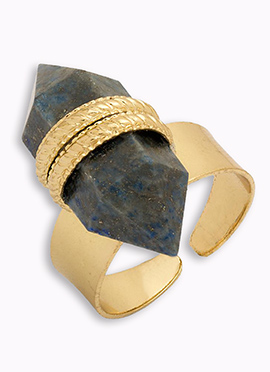 Gold N Blue Ring