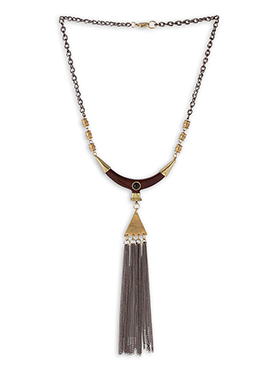 Gold N Brown Necklace