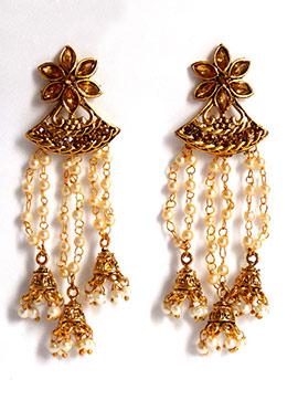 Gold N Cream Chandelier Earrings