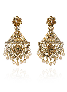 Gold N Cream Dangler Earring