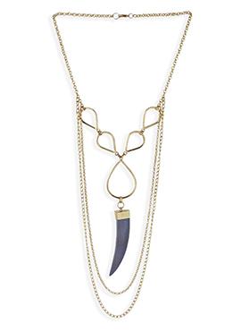 Gold N Dark Purple Necklace