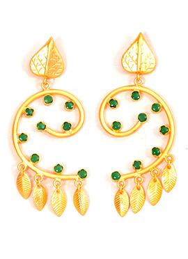 Gold N Green Danglers