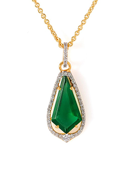 Gold N Green Pendant