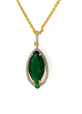 Gold N Green Pendant