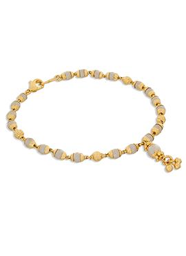 Gold N Off White Color Pearl Stud Bracelet
