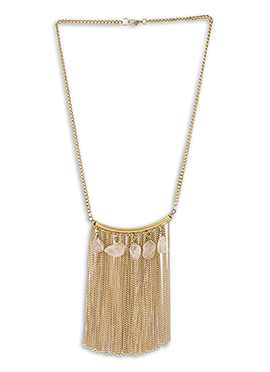 Gold N Off white Necklace