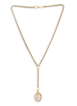 Gold N Off White Pendant