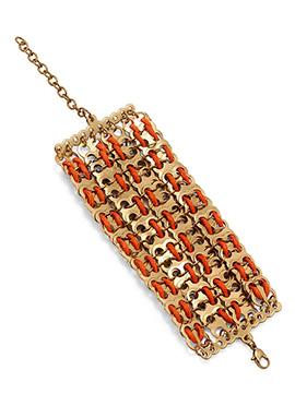 Gold N Orange Bracelet