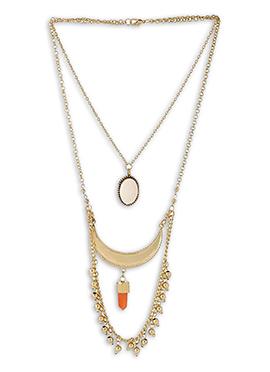 Gold N Orange Necklace