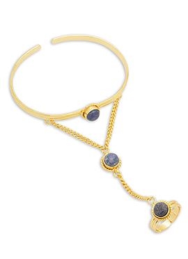 Gold N Purple Bracelet
