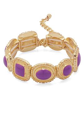 Gold N Purple Bracelets