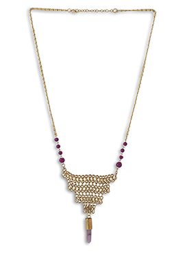 Gold N Purple Necklace