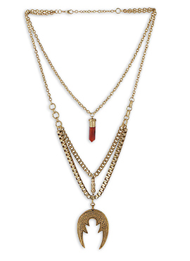 Gold N Red Necklace